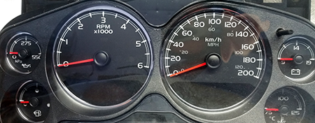 Speedometer Conversion Gauge Faces MPH and KPH • Florida